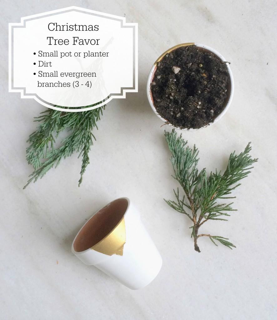 DIY Christmas tree favor - supplies