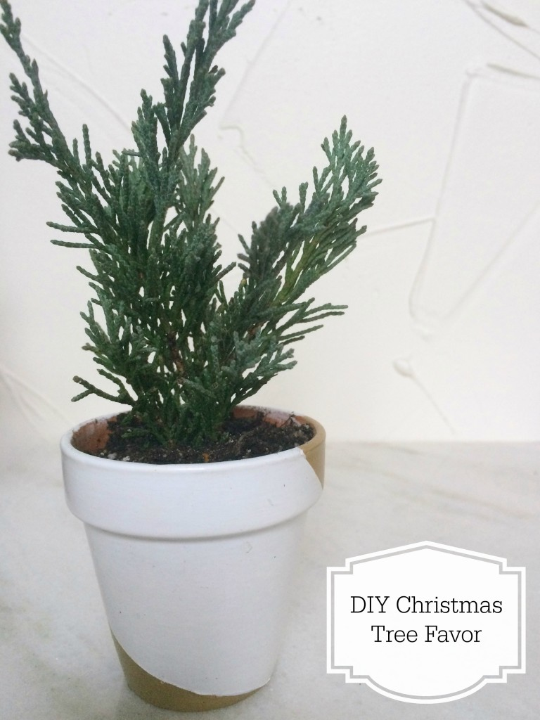 DIY Christmas tree favor