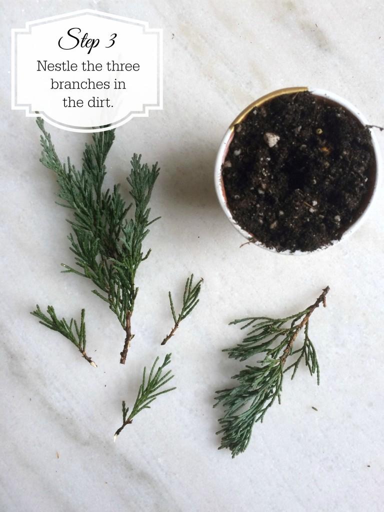 DIY Christmas tree favor - step 3