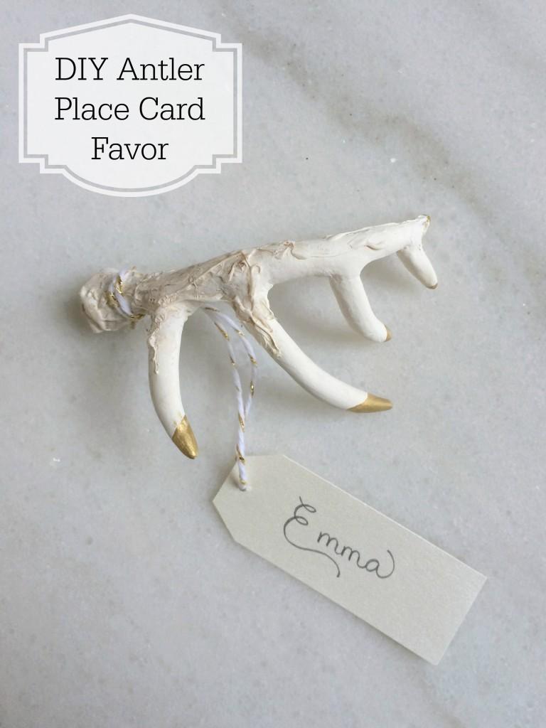 Grand Rapids Wedding Planner and Floral Designer - DIY Antler Place Card Favor- Gold Faux Antler Place Card Favor - Step 10