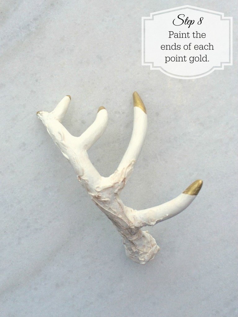 Grand Rapids Wedding Planner and Floral Designer - DIY Antler Place Card Favor- Gold Faux Antler Place Card Favor - Step 8