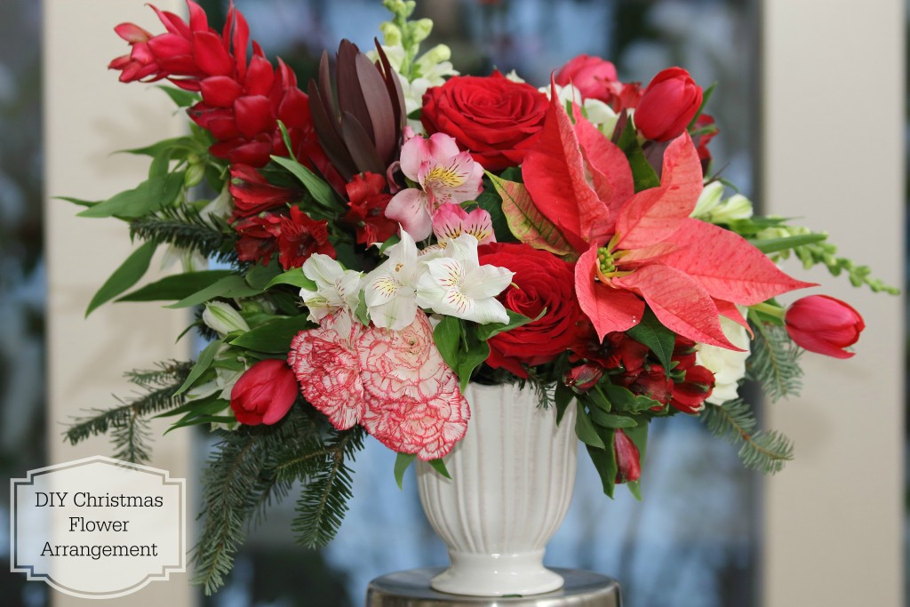 Grand Rapids Wedding Planner and Floral Designer - DIY Christmas Holiday Flower Arrangement Centerpiece