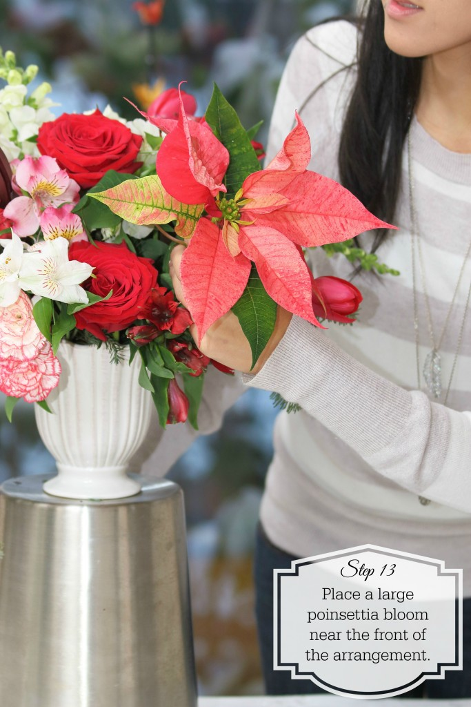 Grand Rapids Wedding Planner and Floral Designer - DIY Christmas Holiday Flower Arrangement Centerpiece - Step 13
