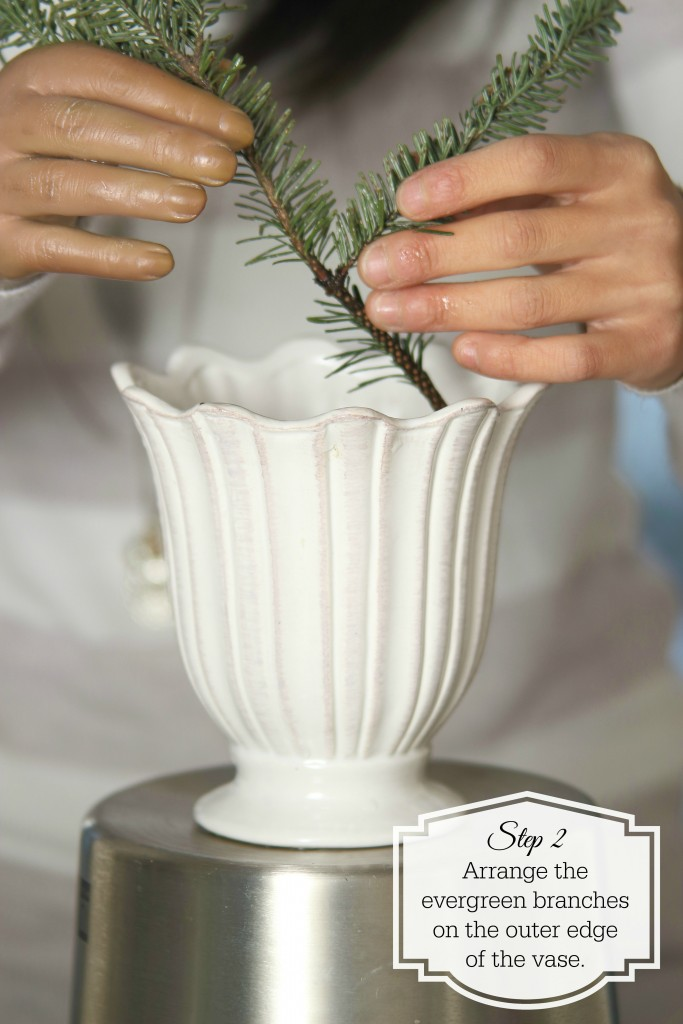 Grand Rapids Wedding Planner and Floral Designer - DIY Christmas Holiday Flower Arrangement Centerpiece - Step 2