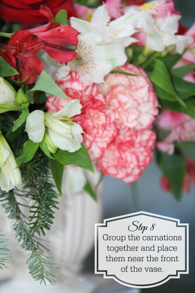 Grand Rapids Wedding Planner and Floral Designer - DIY Christmas Holiday Flower Arrangement Centerpiece - Step 8