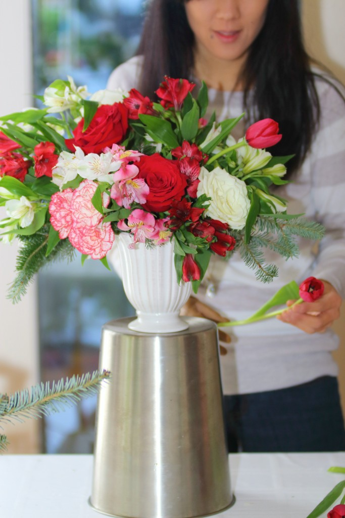 Grand Rapids Wedding Planner and Floral Designer - DIY Christmas Holiday Flower Arrangement Centerpiece - Step 9