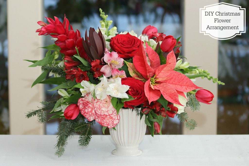 Grand Rapids Wedding Planner and Floral Designer - DIY Christmas Holiday Flower Arrangement Centerpiece - Step Final