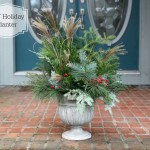 DIY Holiday Porch Urn