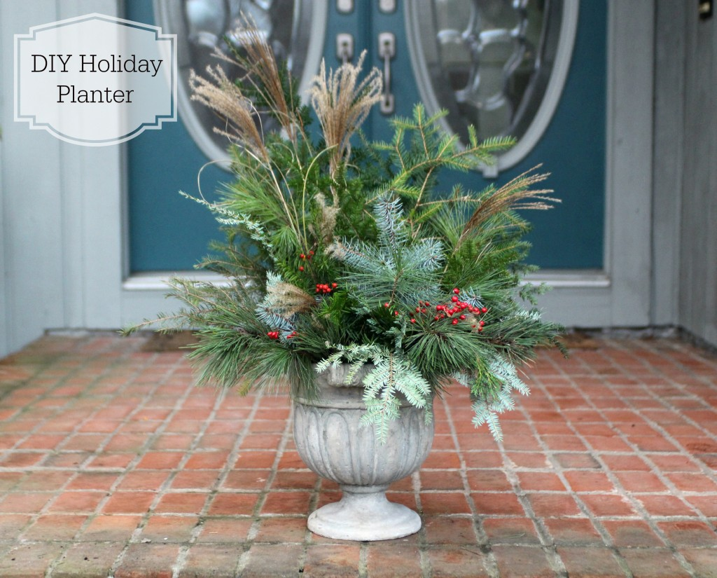 Grand Rapids Wedding Planner and Floral Designer - DIY Holiday Planter - Christmas evergreen and berry planter or urn