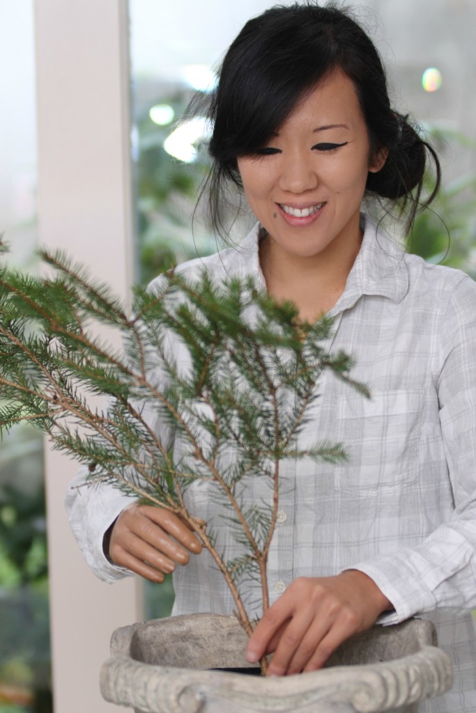 Grand Rapids Wedding Planner and Floral Designer - DIY Holiday Planter - Christmas evergreen and berry planter or urn - Step 3
