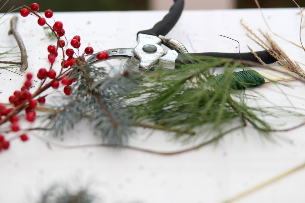 Grand Rapids Wedding Planner and Floral Designer - DIY Holiday Planter - Christmas evergreen and berry planter or urn - Step 4