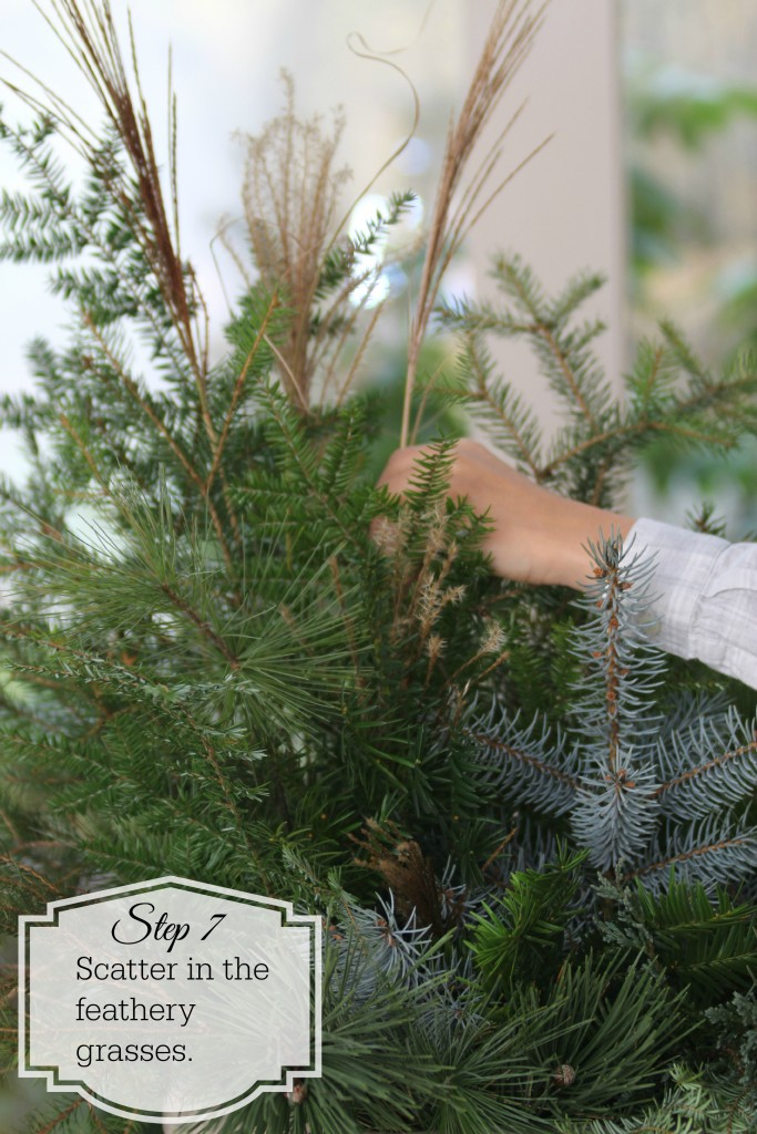 Grand Rapids Wedding Planner and Floral Designer - DIY Holiday Planter - Christmas evergreen and berry planter or urn - Step 7