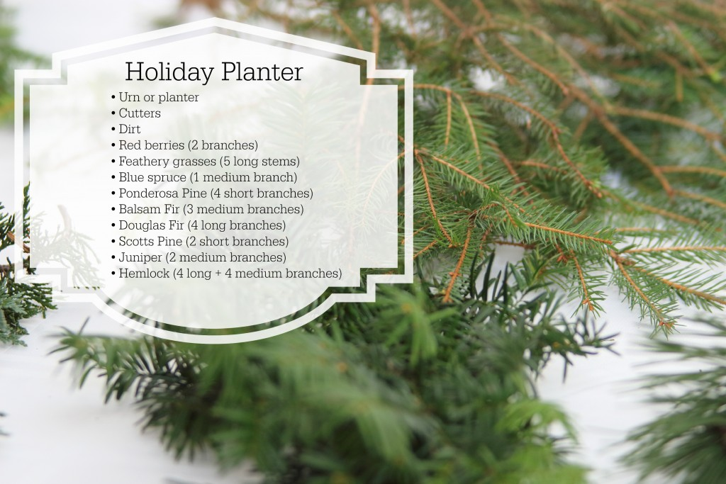 Grand Rapids Wedding Planner and Floral Designer - DIY Holiday Planter - Christmas evergreen and berry planter or urn - Tools