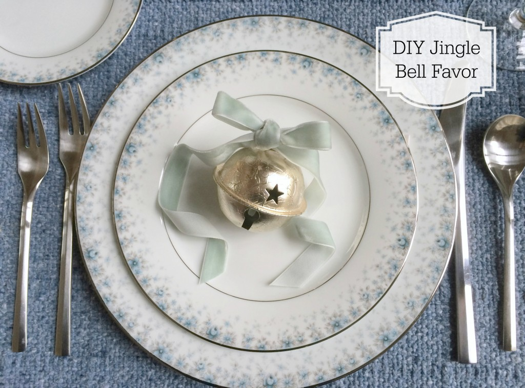 Grand Rapids Wedding Planner and Floral Designer - DIY Jingle Bell Place Card Favor- Silver Jingle Bell Place Card Favor 1