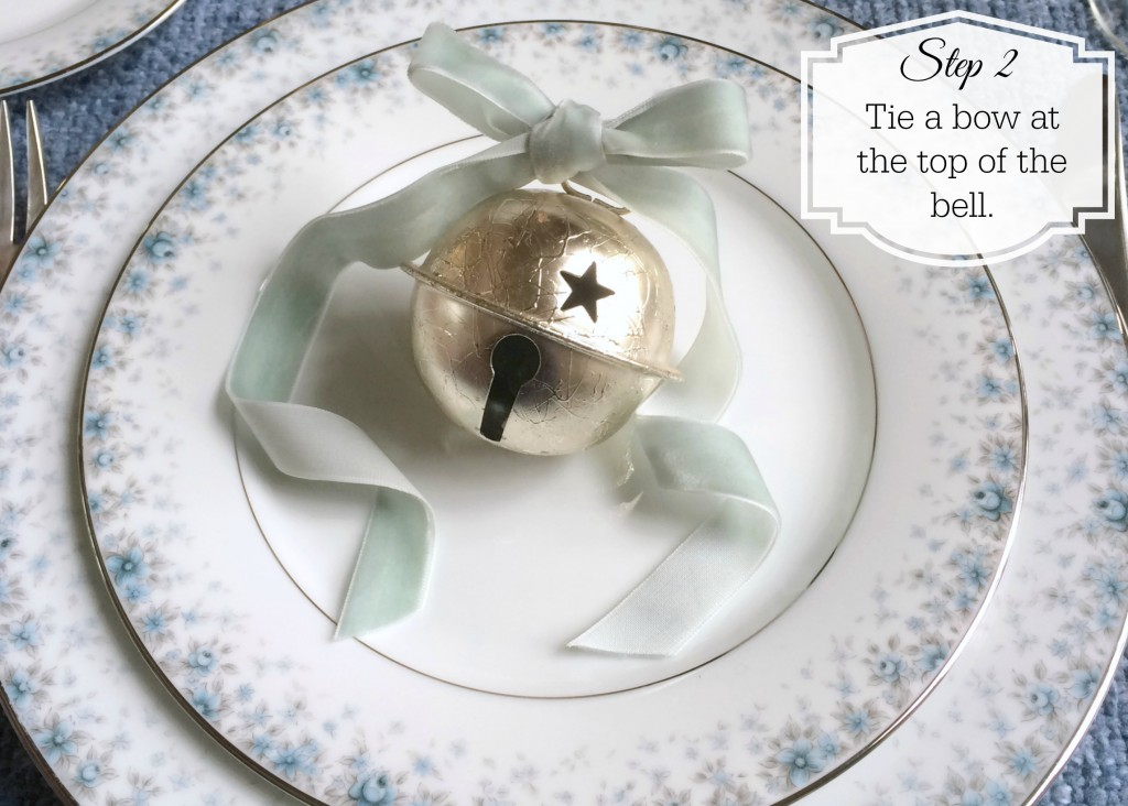Grand Rapids Wedding Planner and Floral Designer - DIY Jingle Bell Place Card Favor- Silver Jingle Bell Place Card Favor - Step 2