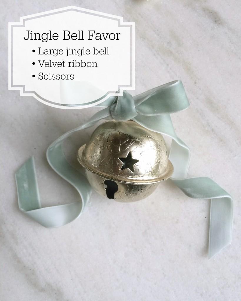 Grand Rapids Wedding Planner and Floral Designer - DIY Jingle Bell Place Card Favor- Silver Jingle Bell Place Card Favor