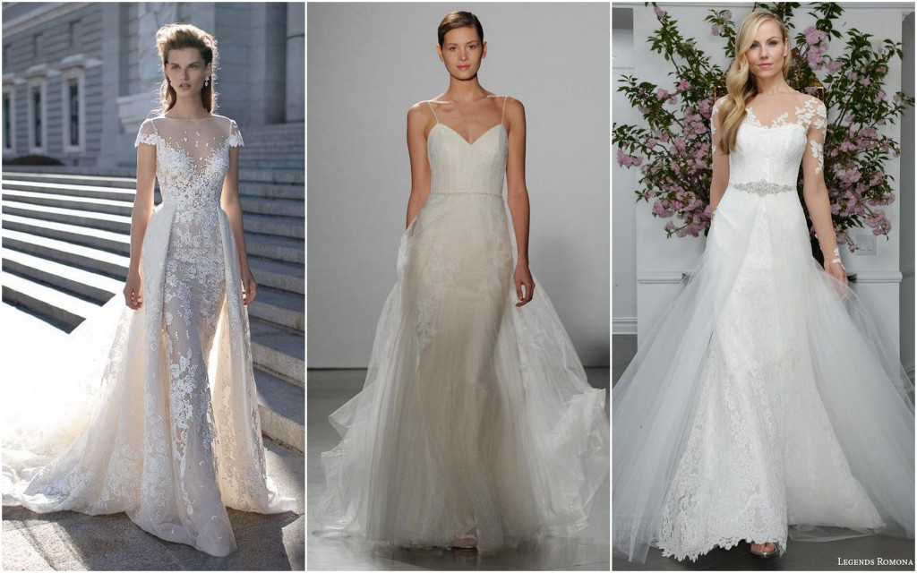 Wedding Dress 2016 trends - Overskirts and Sheer Skirt