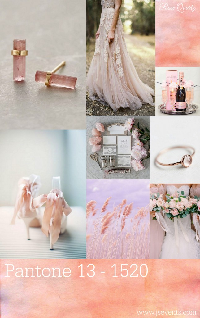 Grand Rapids Wedding Planner and Floral Designer - Pantone colors Spring 2016 - Rose Quartz 13-1520