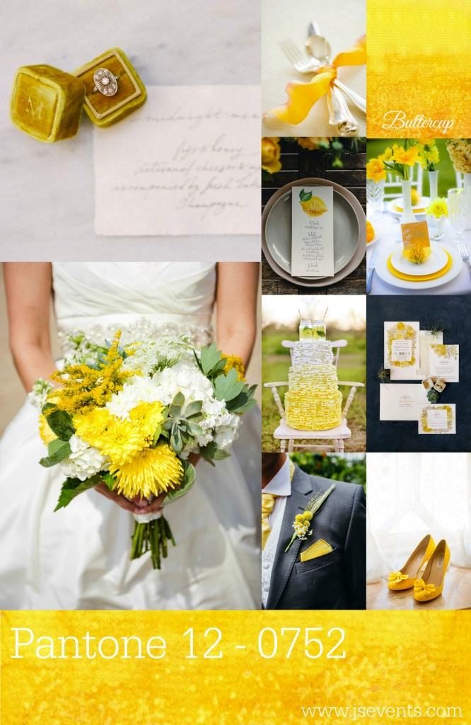 Grand Rapids Wedding Planner and Floral Designer - Pantone's colors for Spring 2016 - Buttercup 12-0752 3