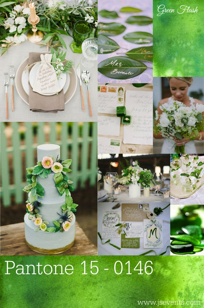 Grand Rapids Wedding Planner and Floral Designer - Pantone's colors for Spring 2016 - Green Flash 15-0146