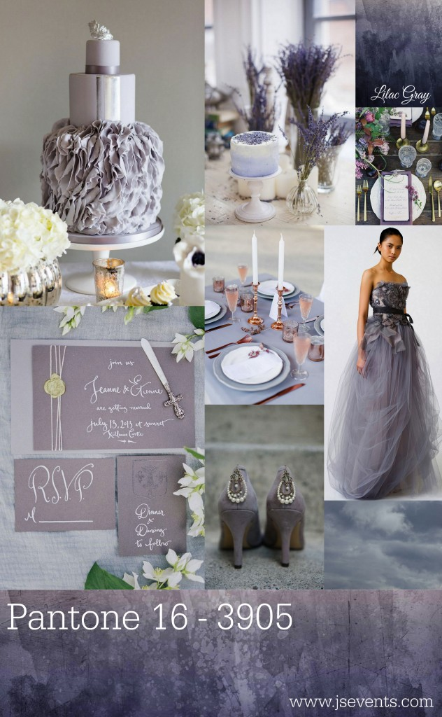 Grand Rapids Wedding Planner and Floral Designer - Pantone's colors for Spring 2016 - Lilac Gray 16-3905