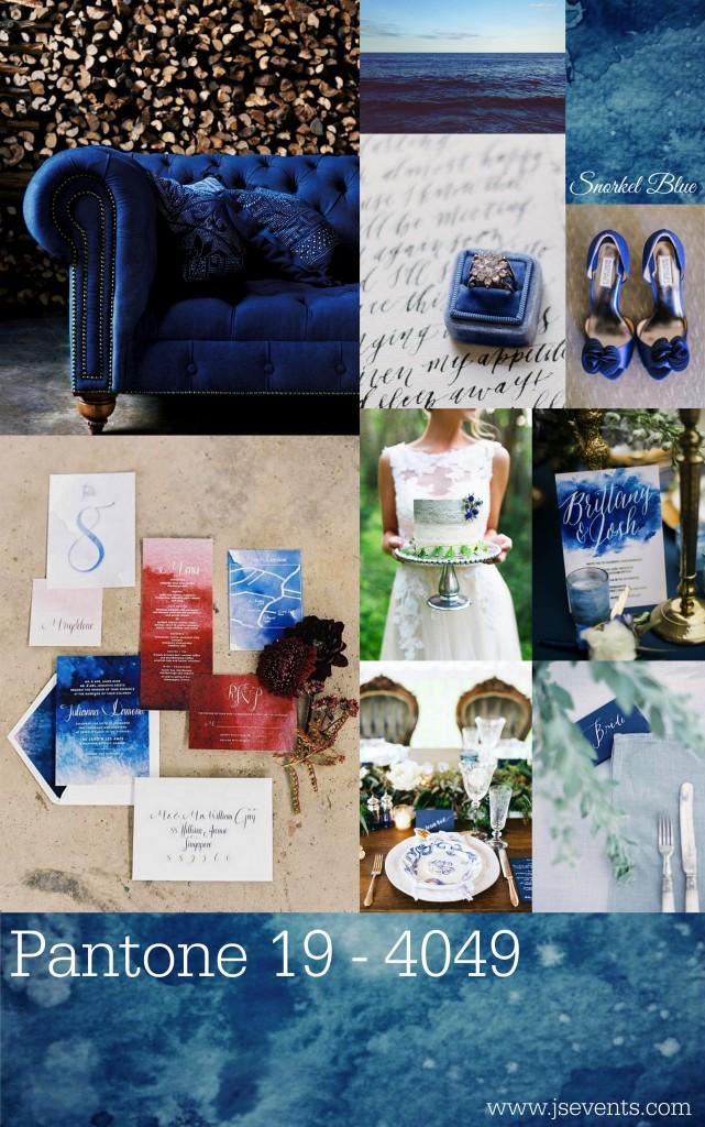 Grand Rapids Wedding Planner and Floral Designer - Pantone's colors for Spring 2016 - Snorkel Blue 19-4049