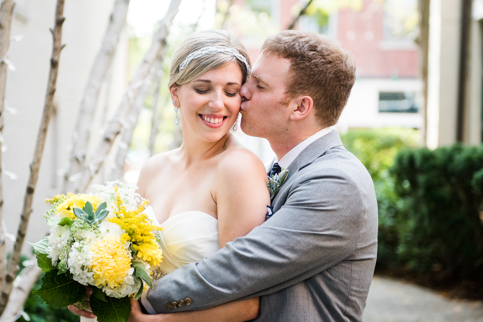 JS Weddings and Events Grand Rapids Wedding Planner and Floral Designer - Navy Blue and Yellow, Classic and Natural Wedding at Baker Events Holland