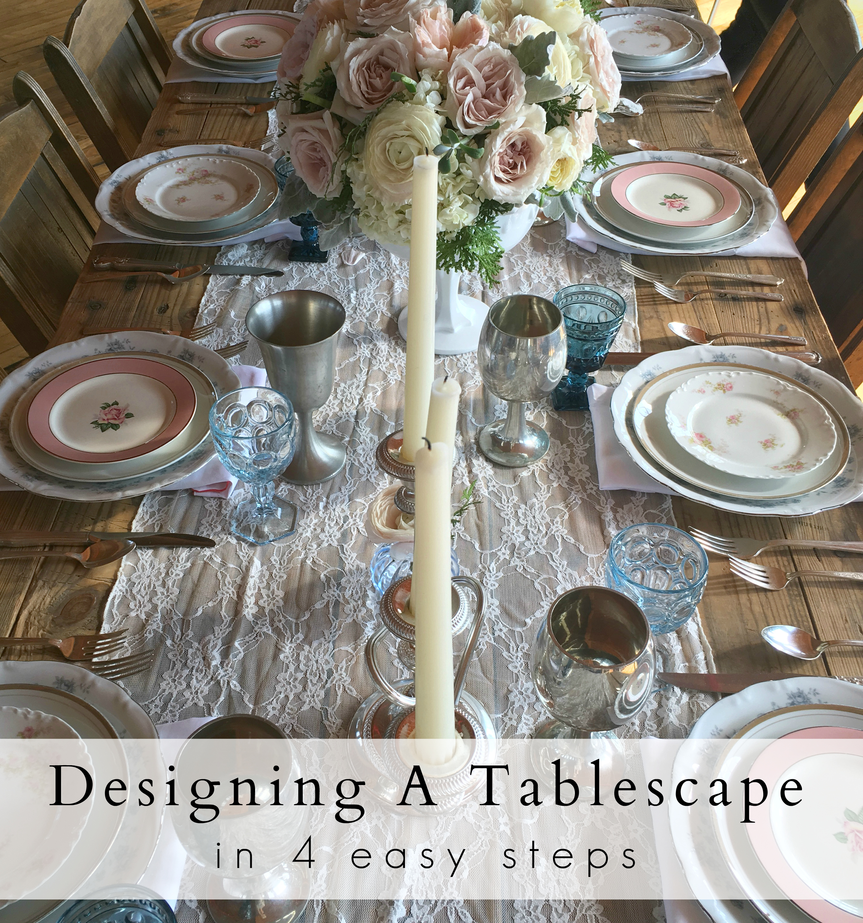 JS Weddings and Events Grand Rapids Wedding Planner and Floral Designer - Spring Tablescape Styling