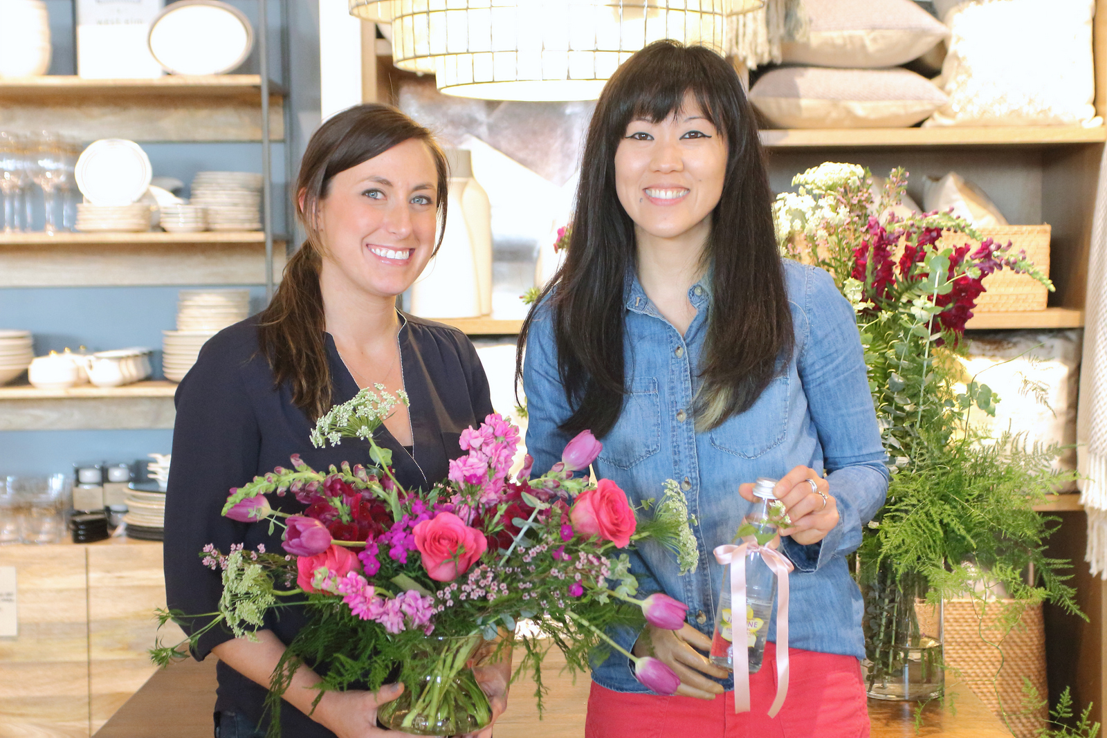 JS Weddings and Events Grand Rapids Wedding Planner and Floral Designer - West Elm Spring Floral and Tablescape Styling Class