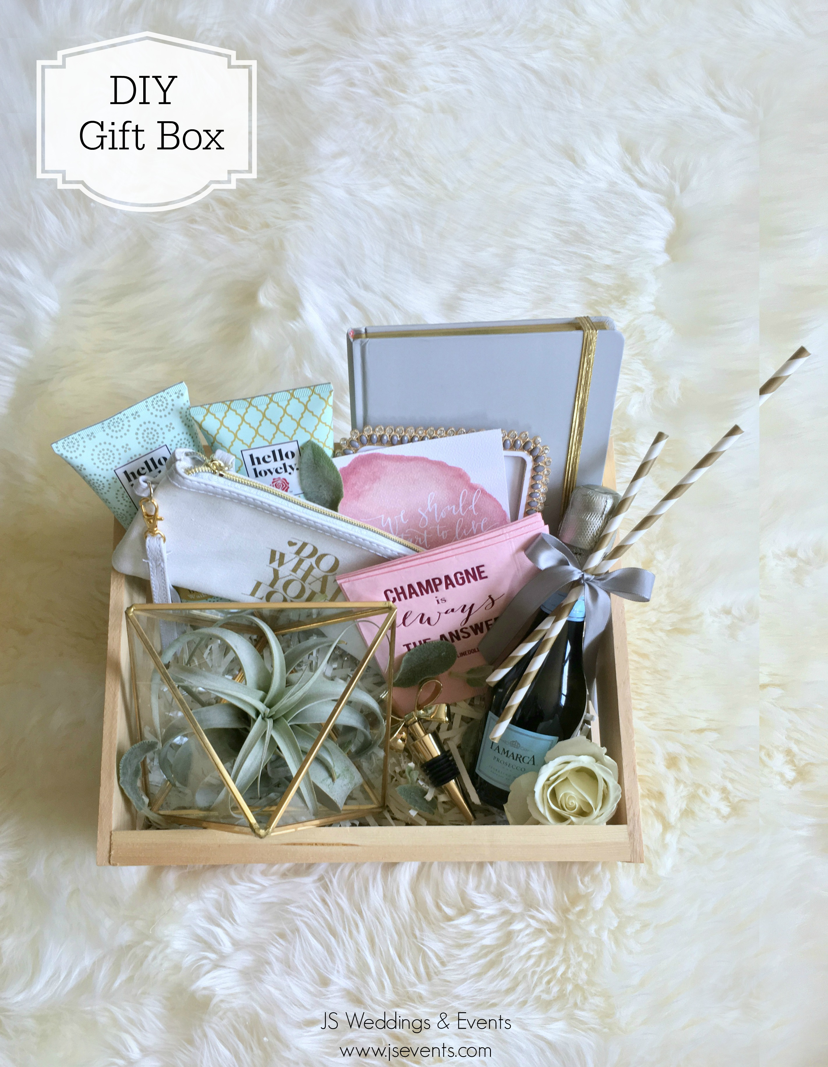 JS Weddings and Events Grand Rapids Wedding Planner and Floral Designer - DIY Bridesmaid Gift Box