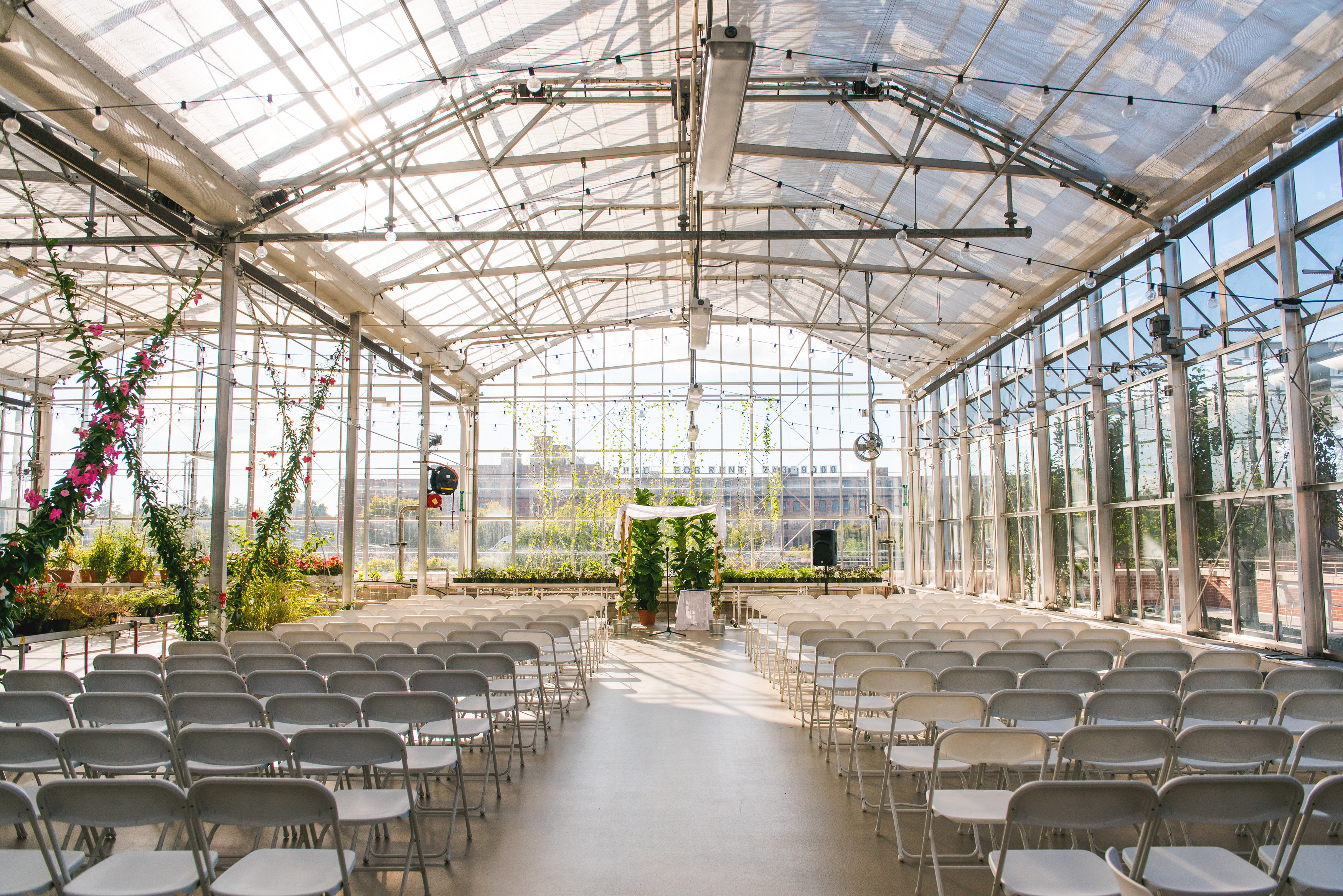 JS Weddings & Events, Grand Rapids Wedding Planner and Floral Designer - Grand Rapids Downtown Market Natural Greenhouse Conservatory Wedding