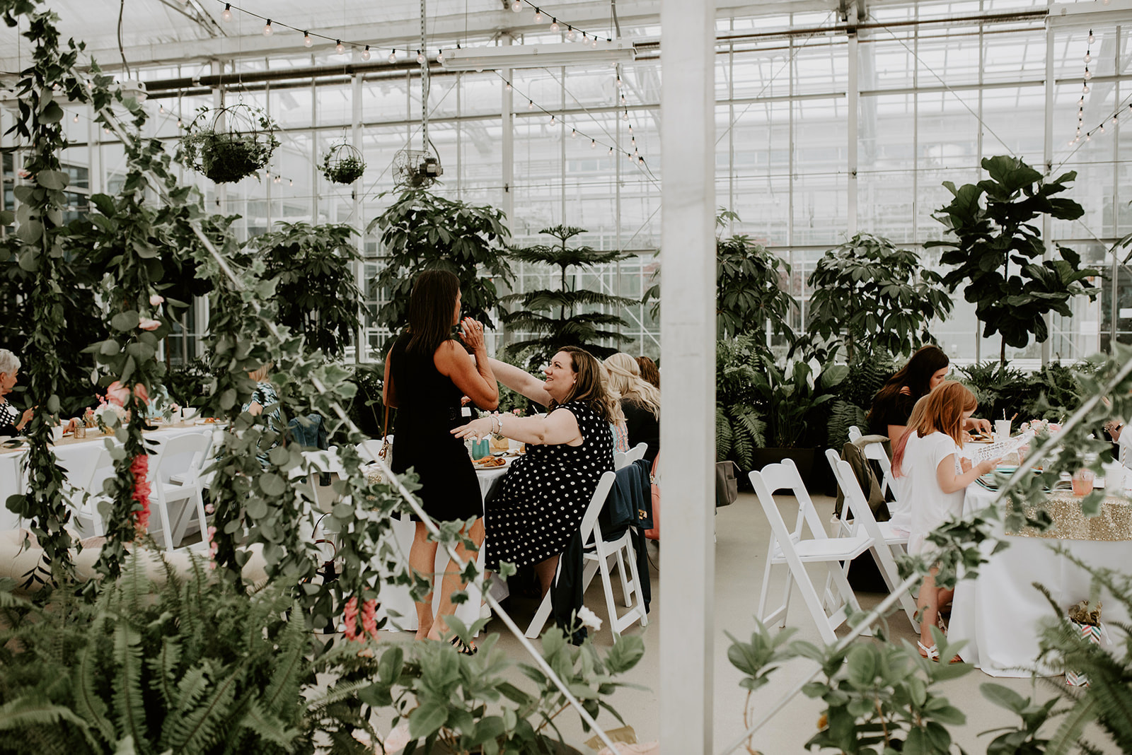 JS Weddings and Events Grand Rapids Wedding Planner and Floral Designer - Whimsical Garden Romantic Kate Spade Bridal Shower Greenhouse at the Downtown Market