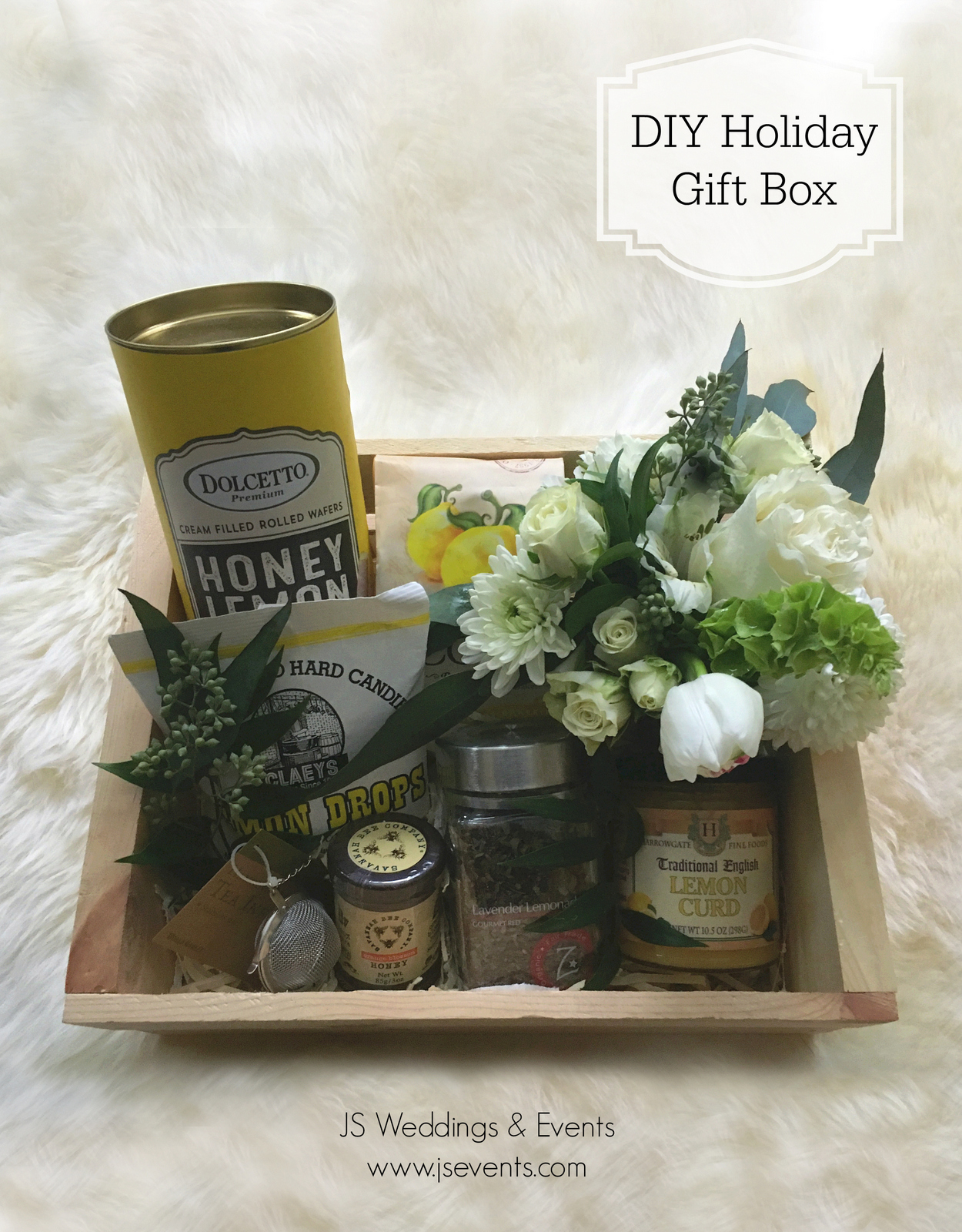 JS Weddings and Events Grand Rapids Wedding Planner and Grand Rapids Floral Designer DIY Holiday Gift Box