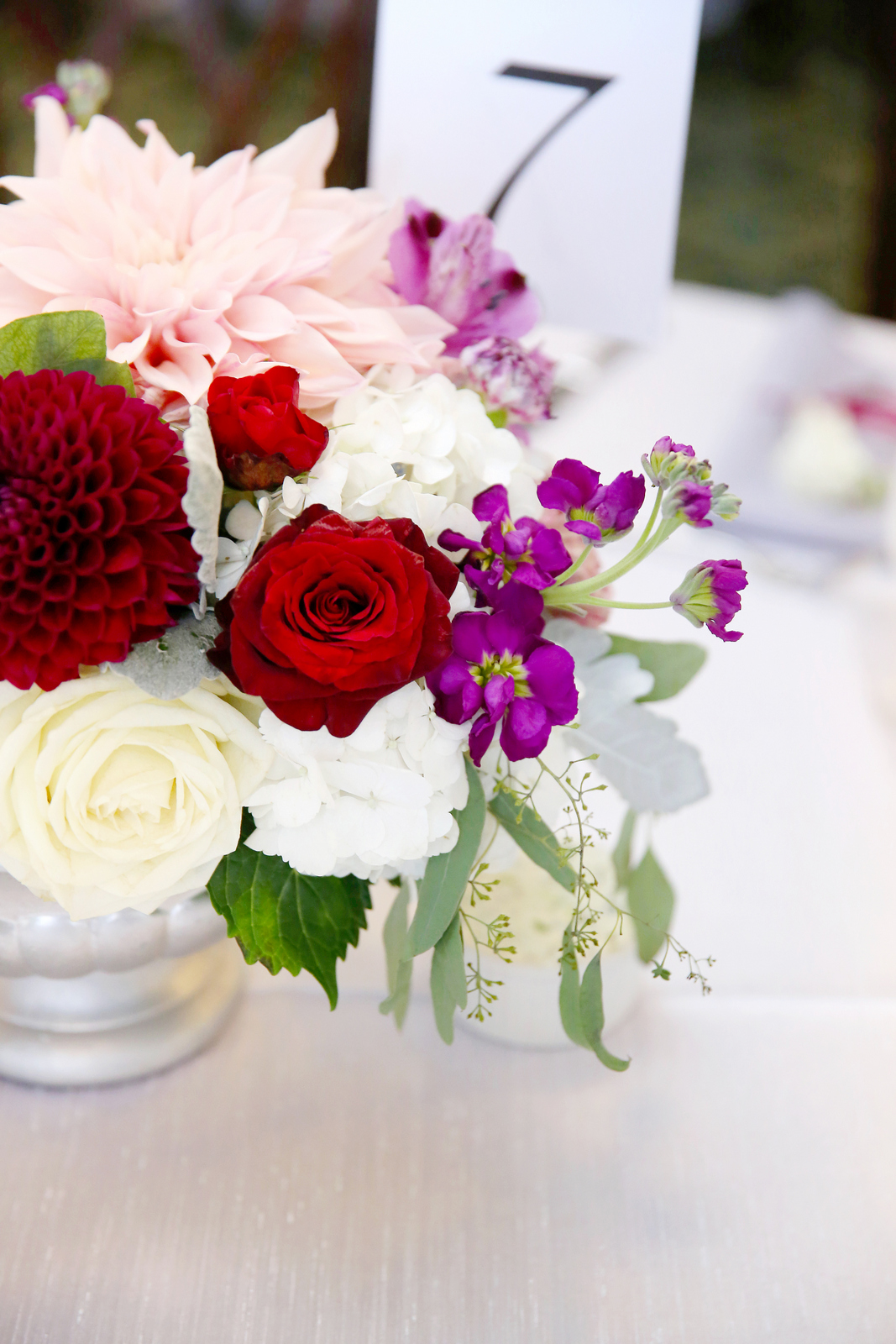 JS Weddings and Events, Grand Rapids Wedding planner and Floral Designer. An elegant and romantic summer wedding in Downtown Grand Rapids at the McKay Ballroom with Burgundy, Blush and Grey.
