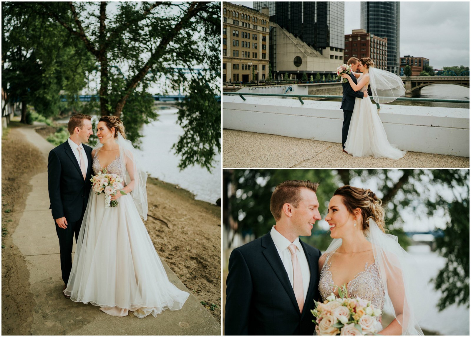 JS Weddings and Events, a Grand Rapids Wedding Planner and Floral Designer. A Moody Summer Romantic Wedding in Downtown Grand Rapids.q