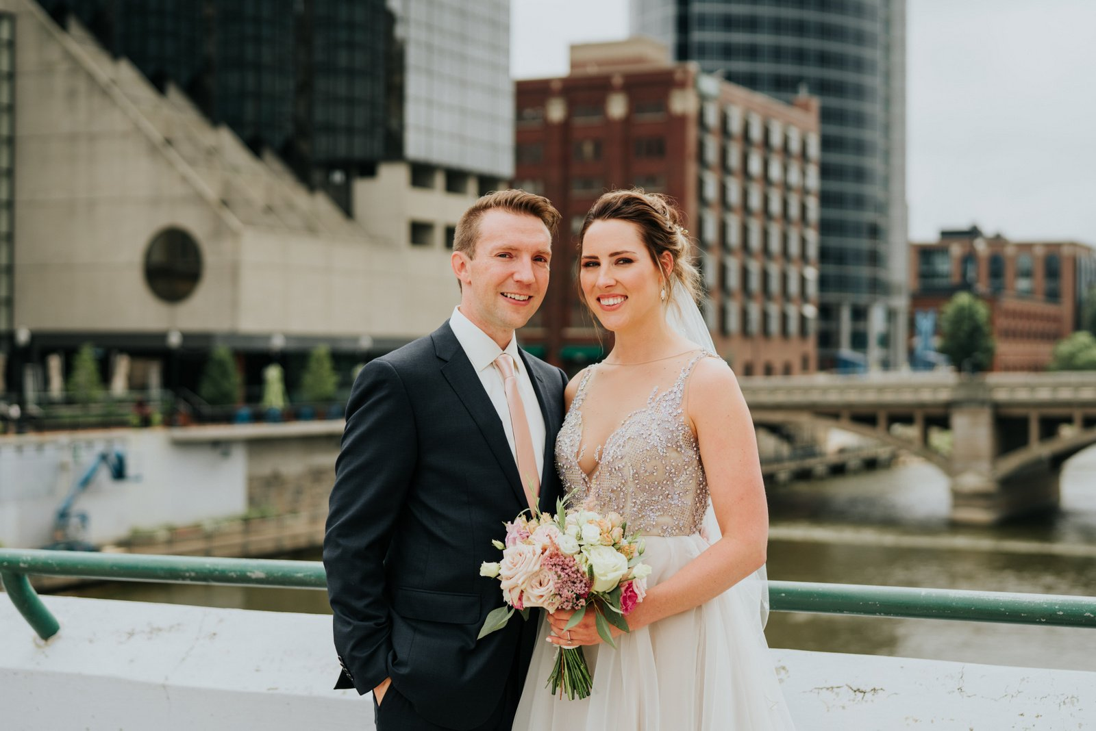 JS Weddings and Events, a Grand Rapids Wedding Planner and Floral Designer. A Moody Summer Romantic Wedding in Downtown Grand Rapids.